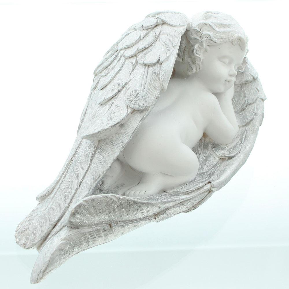 "Декоративная фигура ""Ангелок - серебряное крыло"""