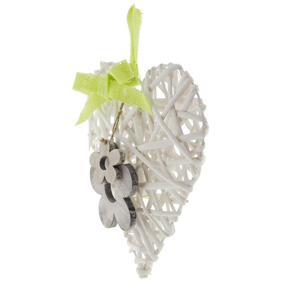 """Подвесное украшение """"Сердечко с цветами"""""""
