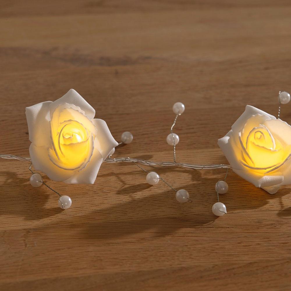 """Декоративная гирлянда """"Цветы роз"""", со светодиодной подсветкой"""