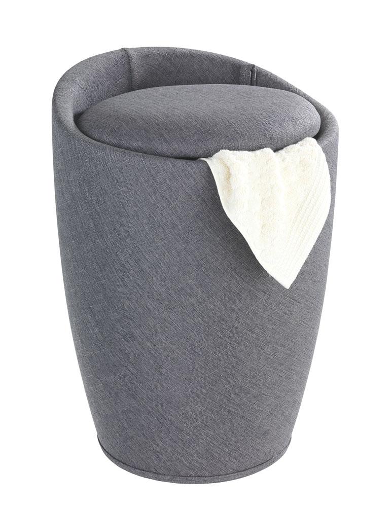 """Табурет для ванной комнаты """"Канди"""", серый лен"""