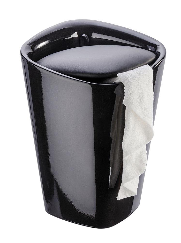 """Табурет для ванной комнаты """"Канди квадрат"""", черный"""