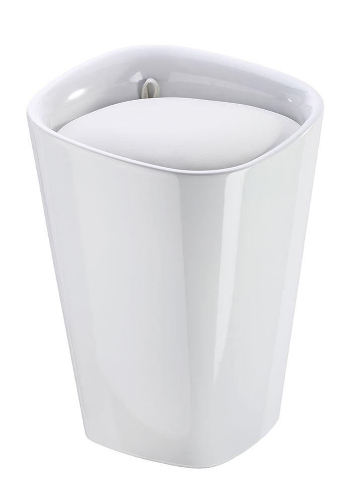 "Табурет для ванной комнаты ""Канди квадрат"", белый"