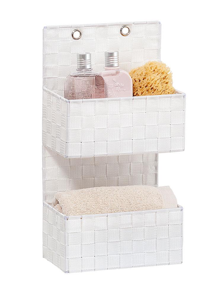 "Органайзер для ванной комнаты ""Адриа"", 2 яруса,  белый"