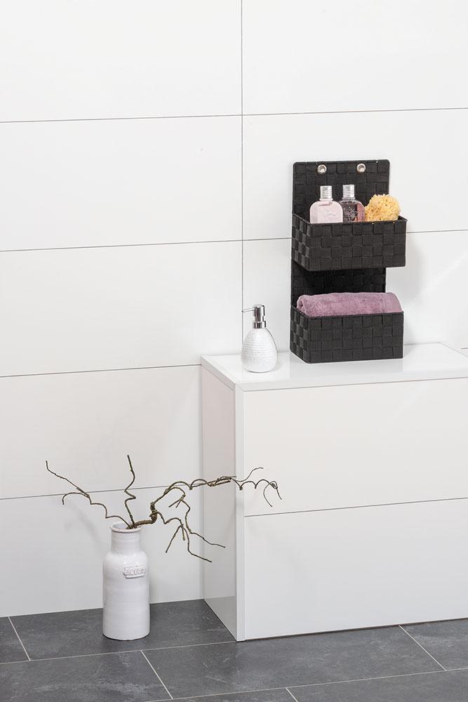 """Органайзер для ванной комнаты """"Адриа"""", 2 яруса , черный"""