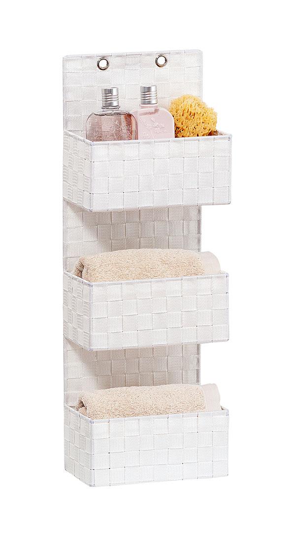 "Органайзер для ванной комнаты ""Адриа"", 3 яруса , белый"