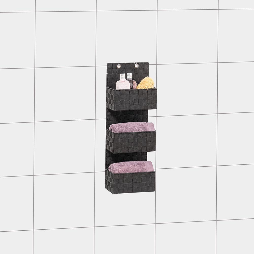 """Органайзер для ванной комнаты """"Адриа"""", 3 яруса, черный"""