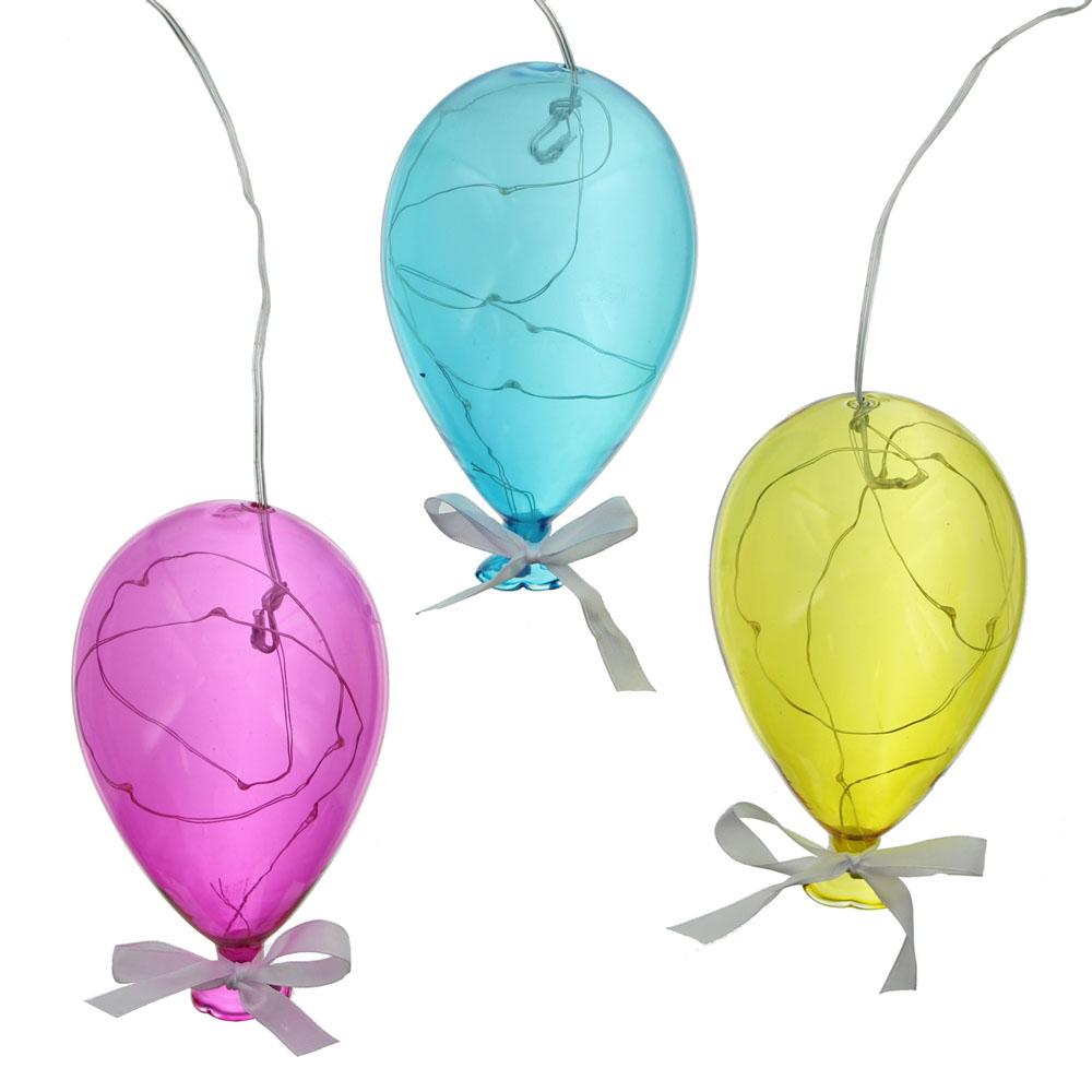 """Подвесные украшения со светодиодной подсветкой """"Шары"""", 3шт."""