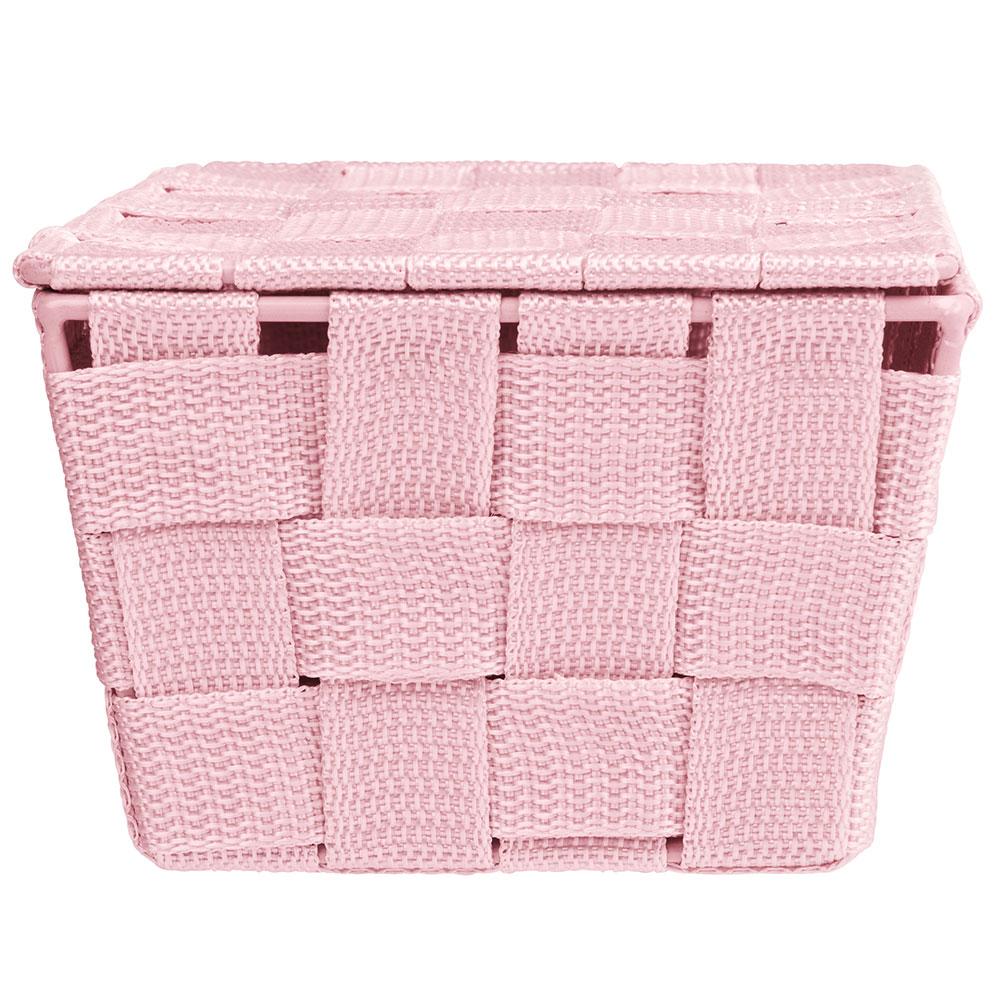 "Корзина ""Adria"", с крышкой, розовая"