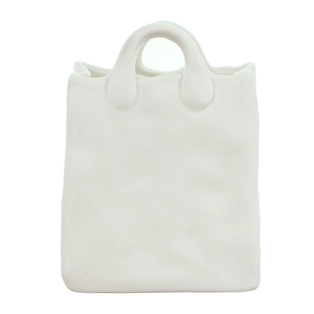 """Декоративная вазочка сумка """"Pure White"""""""