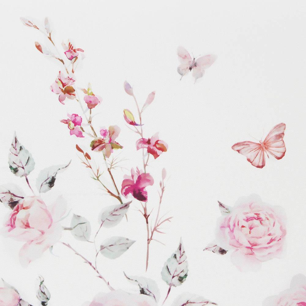 """Дорожка на стол """"Бабочки с розами"""""""