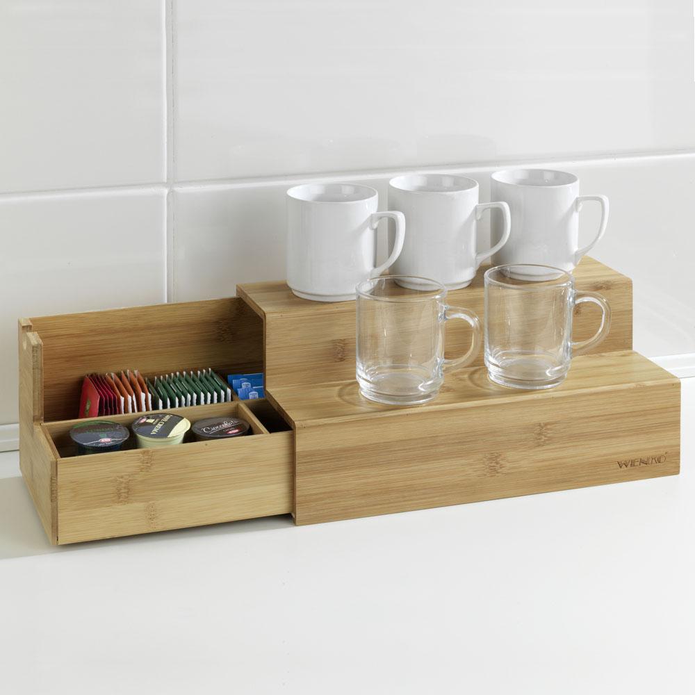 Полочка-лесенка для кофе и чая Bambus