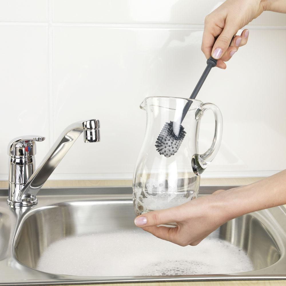 Силиконовая щетка для мытья посуды 25см