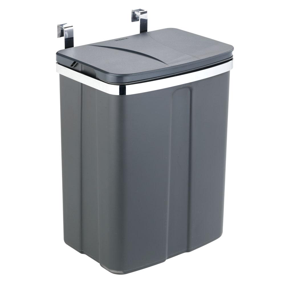 Подвесное мусорное ведро, 12л, серое