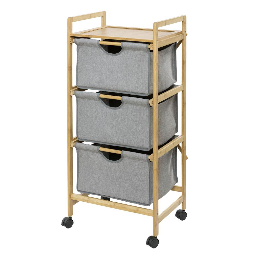 Этажерка для белья Bahari Bambus, с 3-мя ящиками