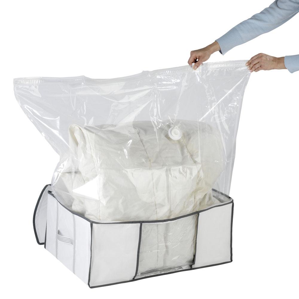Бокс для хранения с вакуумным мешком L, 60х50х27см