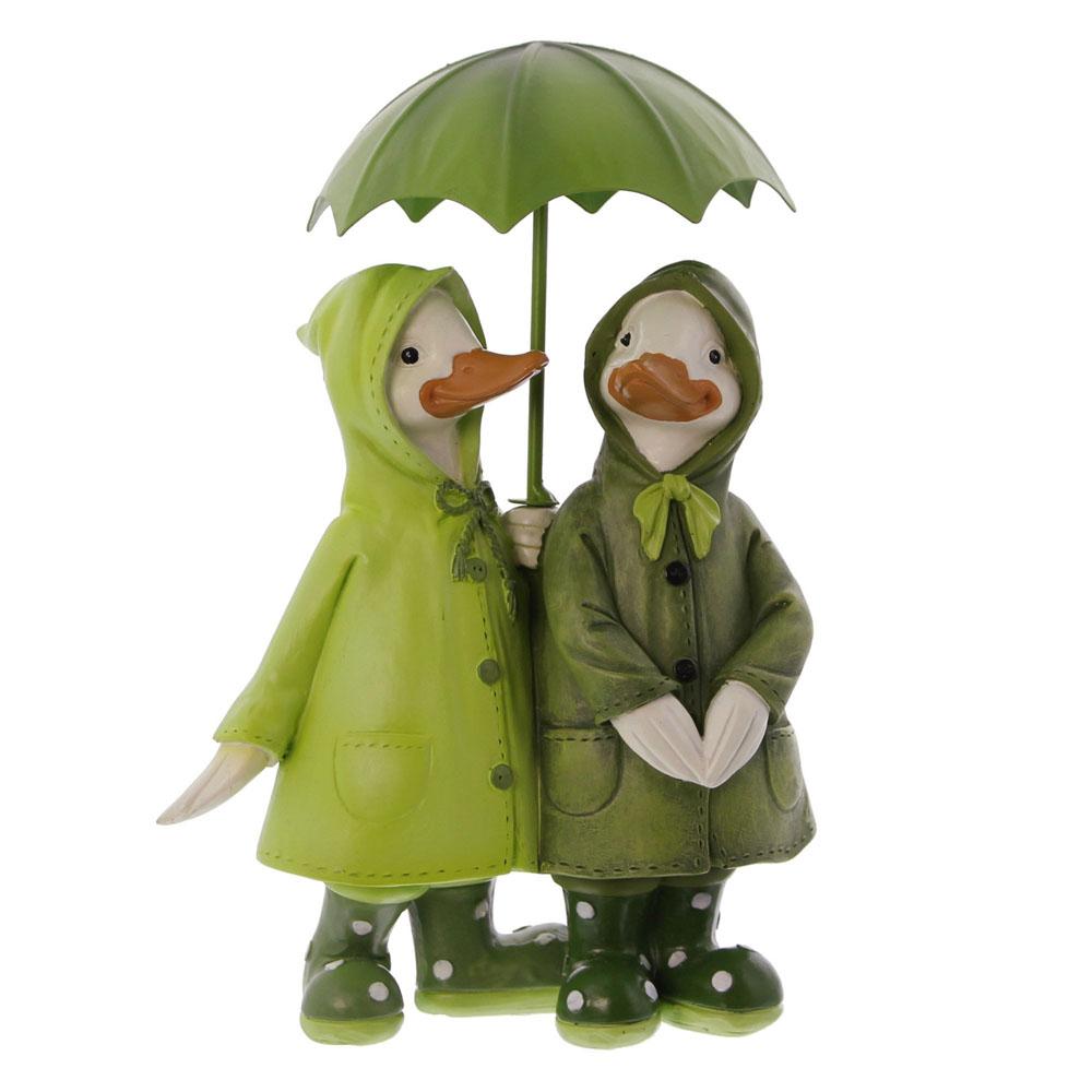 """Декоративные фигуры уточек """"Прогулка под дождем"""""""