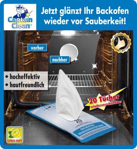 """Салфетки для очищения духовки """"Captain Clean"""",  20 штук [06242],"""
