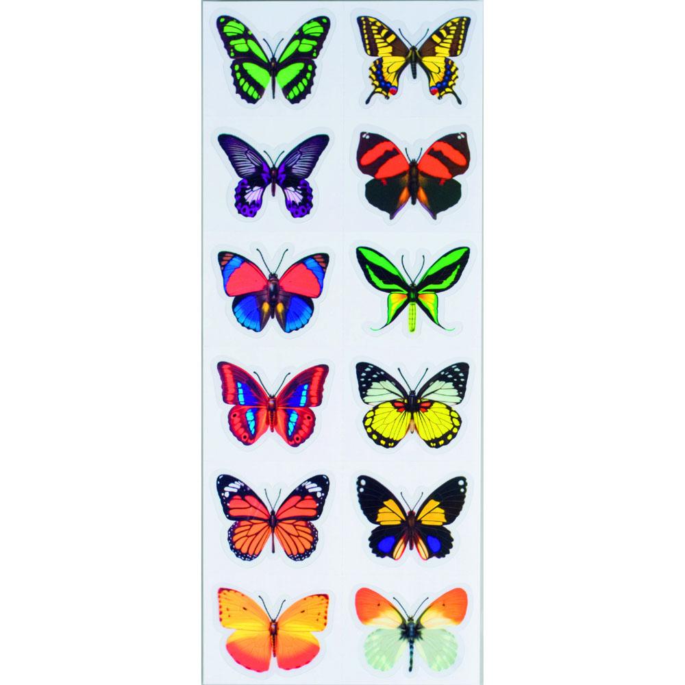 Декоративные наклейки бабочки 3 D, 12 штук [06287],
