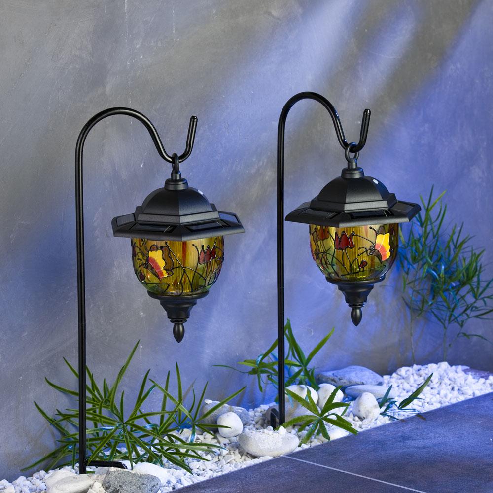 Солнечный светильник для сада Тиффани, 2 штуки [06288] Слнечный светильник для сада ТИФФАНИ, 2шт