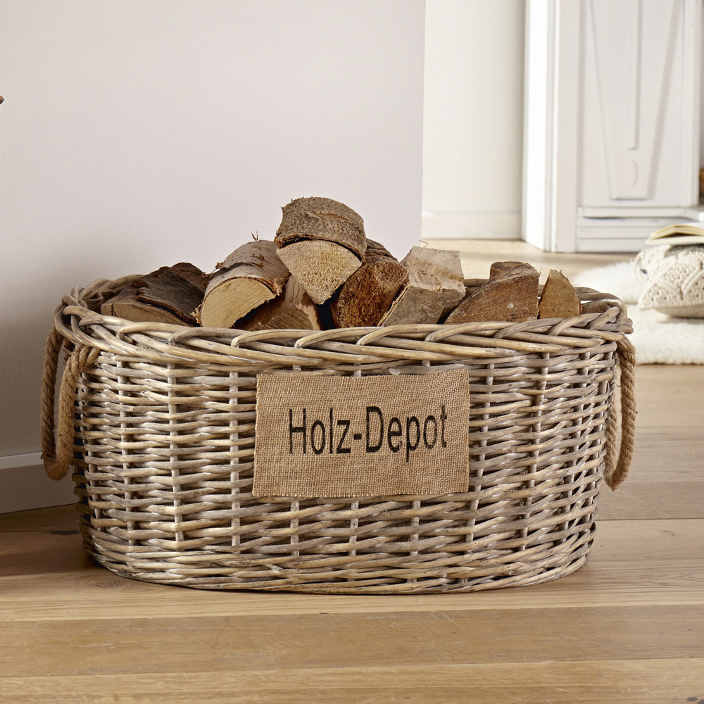 """Универсальная корзина """"Holz Depot"""" [06502] в интерьере"""