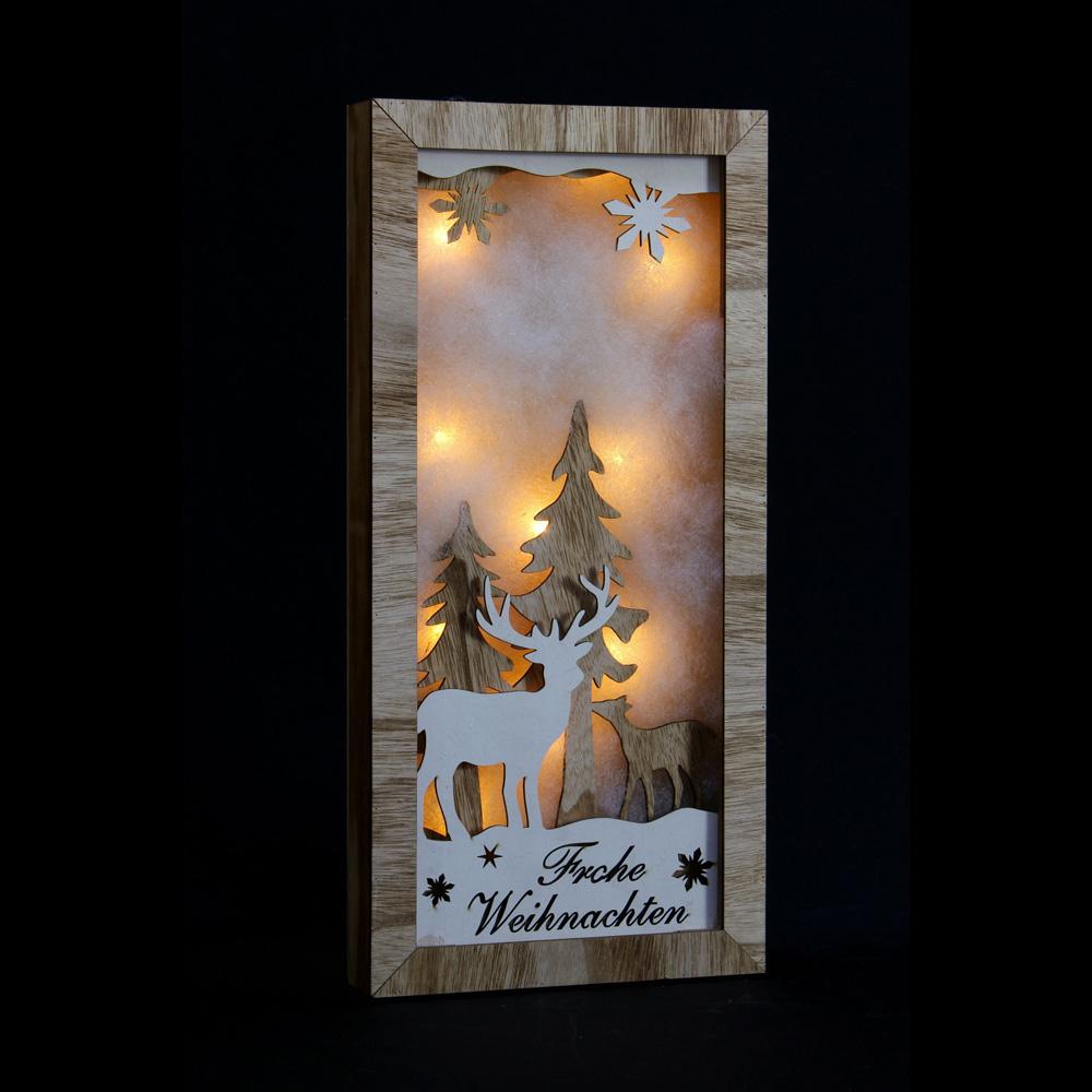 """Настенное панно со светодиодной подсветкой """"Frohe Weihnachten"""" [06519],"""