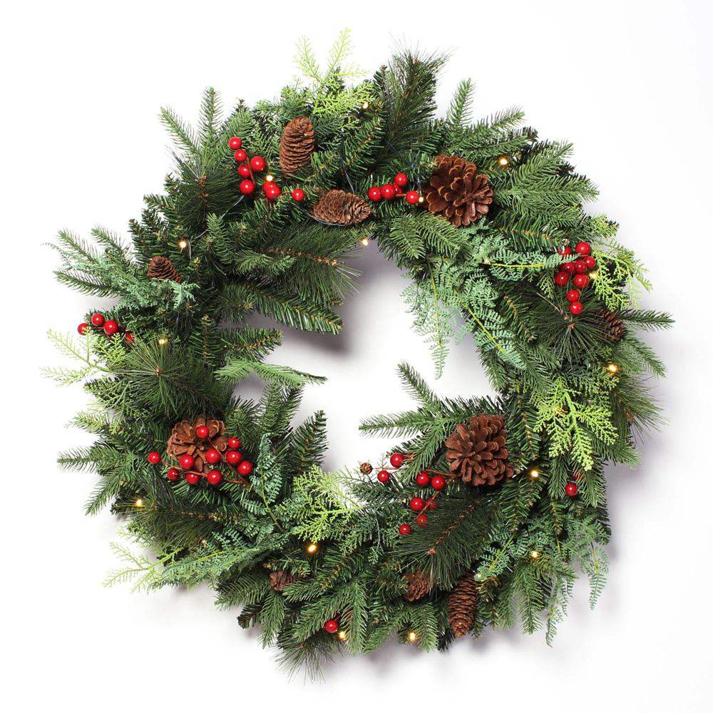 """Декоративный венок с подсветкой """"Рождество"""" [06530],"""
