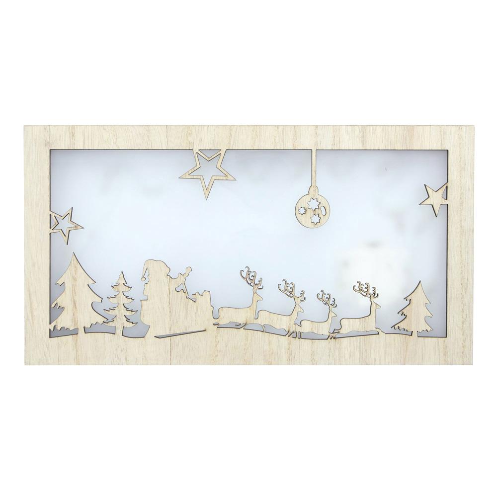 """Настенное панно со светодиодной подсветкой """"Рождественская ночь"""" [06531],"""