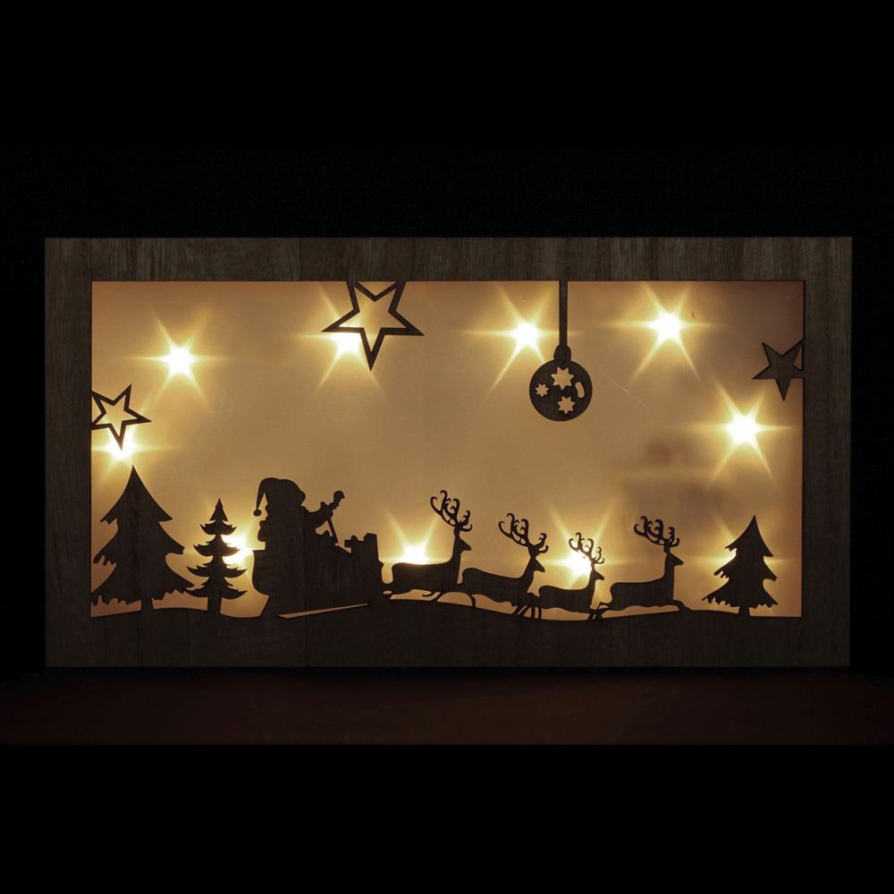 """Настенное панно со светодиодной подсветкой """"Рождественская ночь"""" [06531]"""