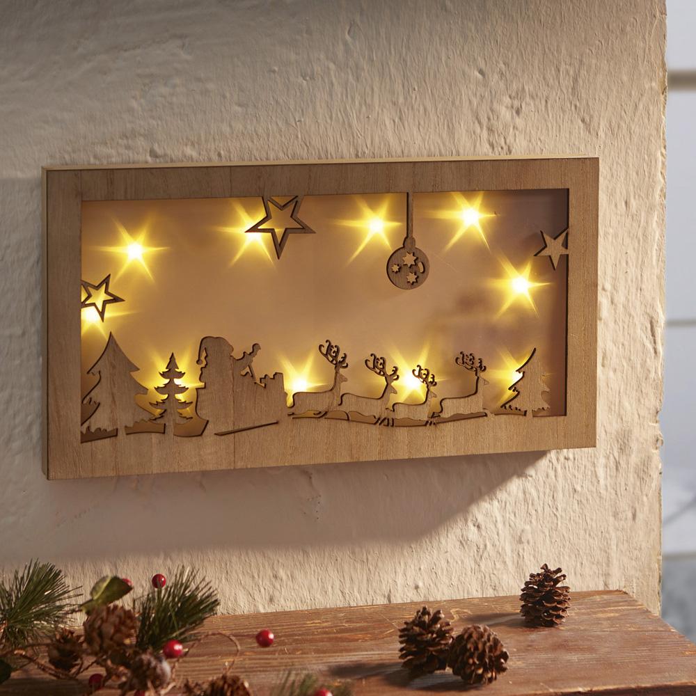 """Настенное панно со светодиодной подсветкой """"Рождествеская ночь"""""""