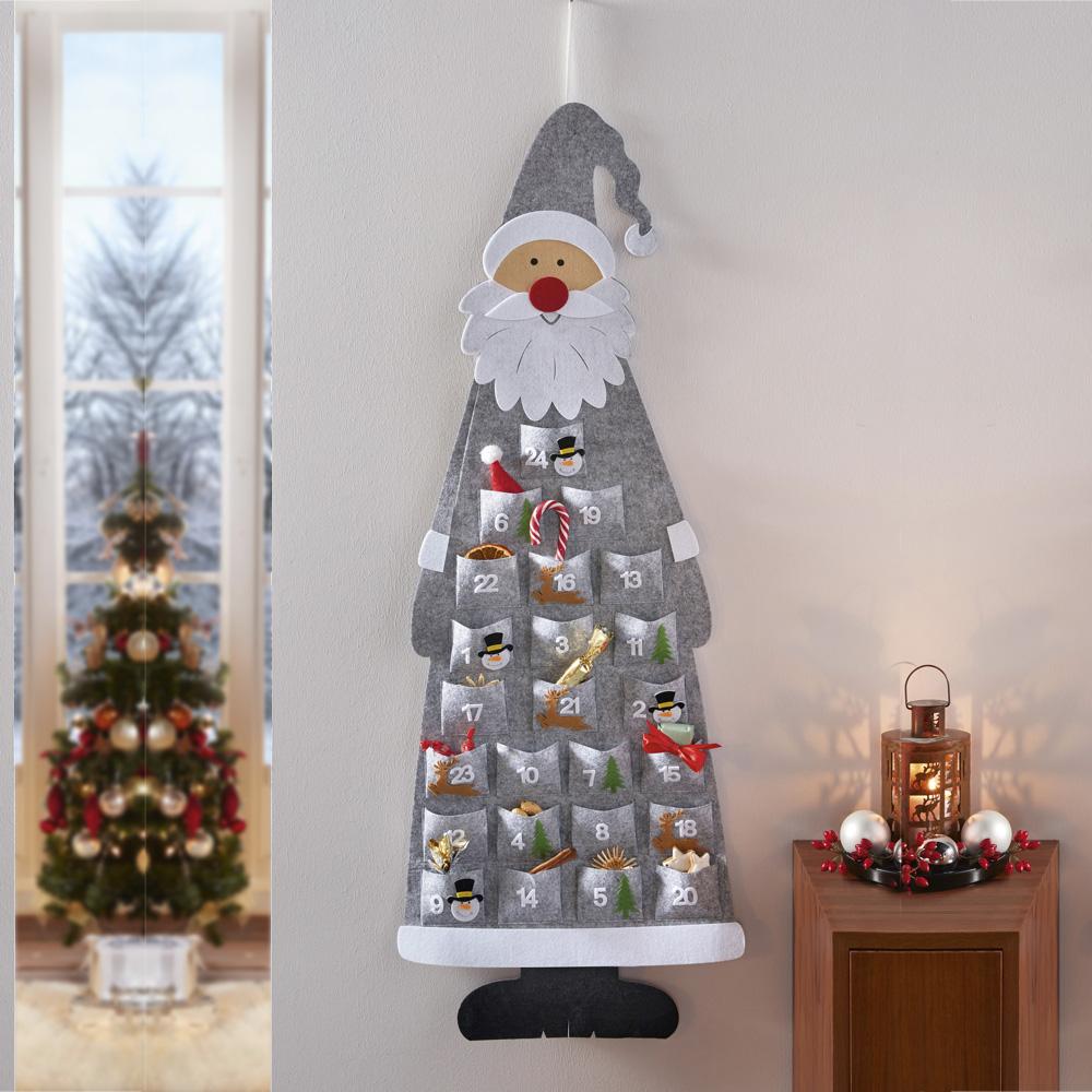 """Подвесное украшение """"Рождественский календарь Санта"""", флис"""