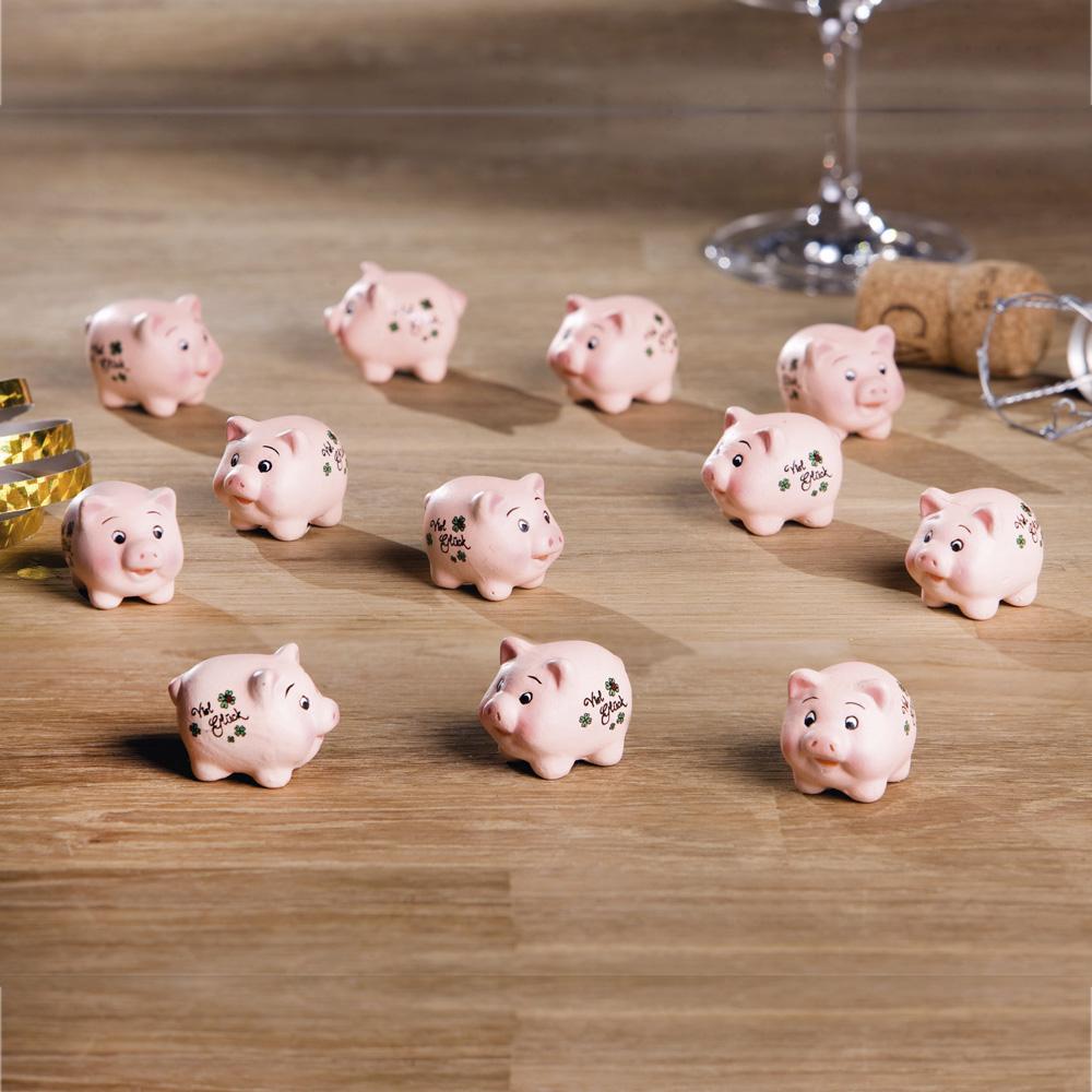 "Декоративные фигурки ""Свинки на счастье"", 12 шт"