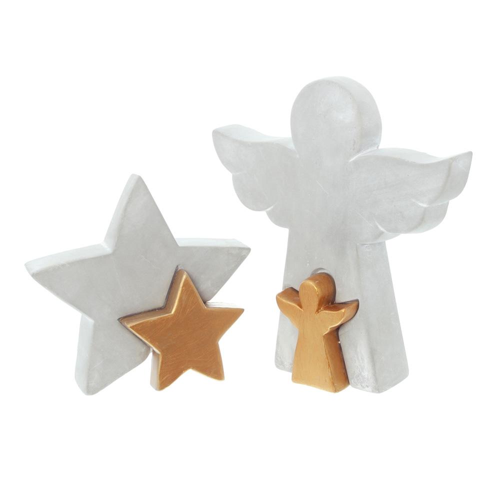 """Декоративные фигуры """"Ангел и звезда"""", 2 штуки [06560],"""