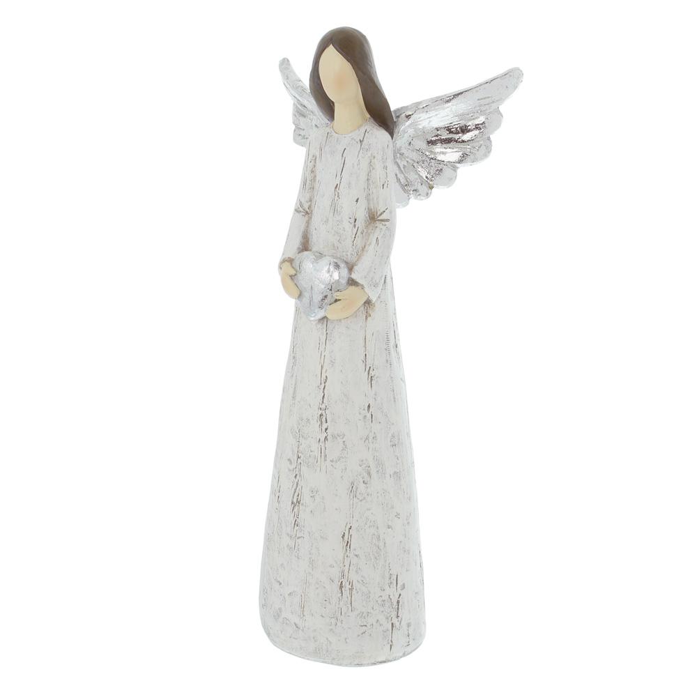 """Декоративная фигура """"Ангел с серебряными крыльями"""" [06562],"""