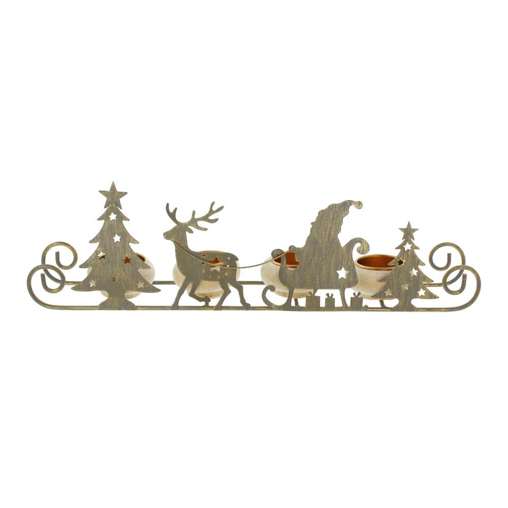 """Подсвечник """"Рождественские сани"""" [06569],"""