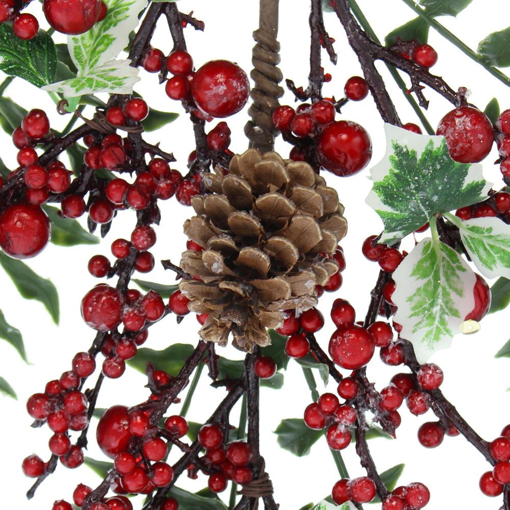 """Декоративное подвесное украшение """"Красные ягоды"""" [06570],"""
