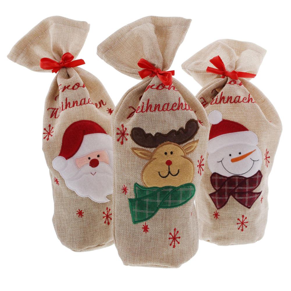 """Подарочные мешочки """"Веселого рождества"""", 3шт [06597]"""