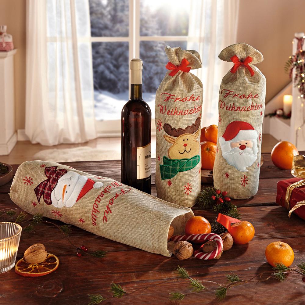 """Подарочные мешочки """"Веселого рождества"""", 3шт [06597] Подарочные мешочки """"Веселого рождества"""", 3шт"""