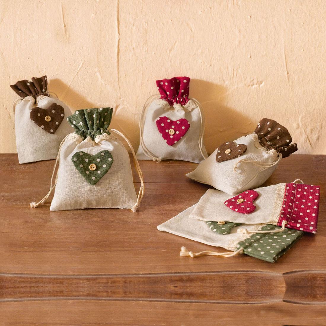 """Мешочки для подарков """"С любовью"""", 6 штук [05213],"""