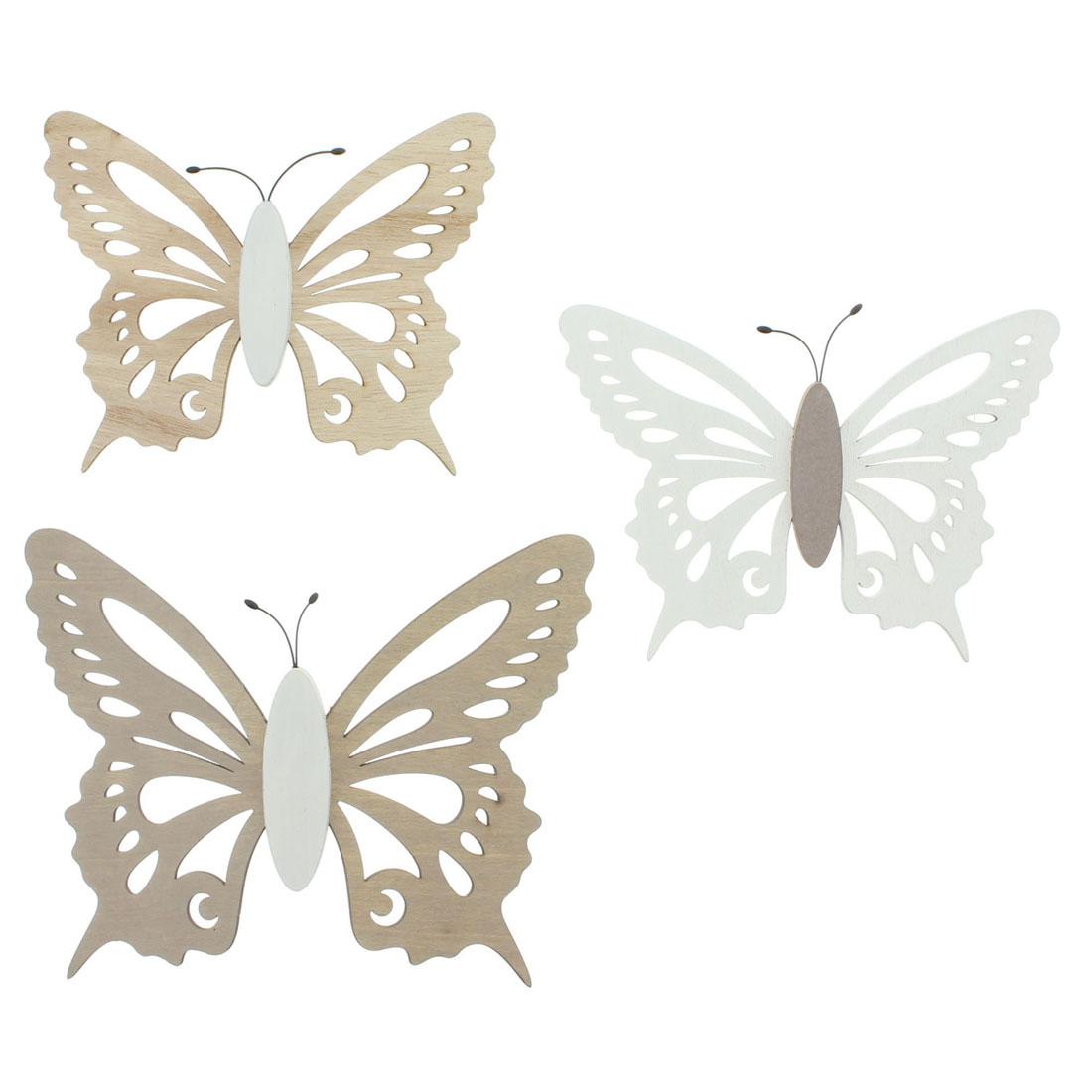 """Подвесные украшения """"Бабочки"""", 3 штуки [06603],"""