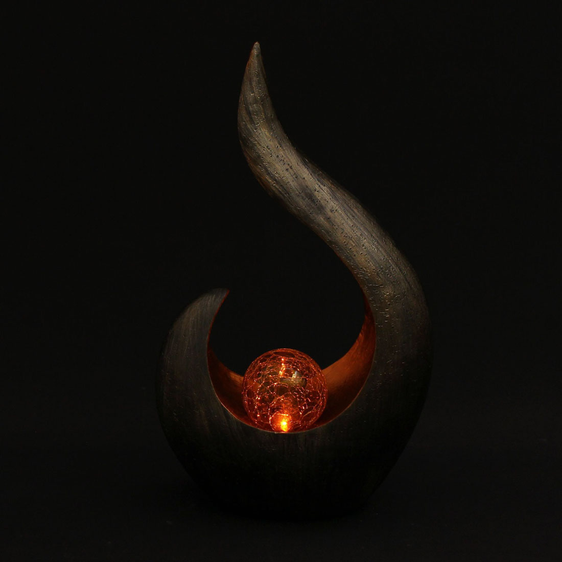 """Декоративная фигура """"Пламя"""", с солнечным светильником [06629],"""