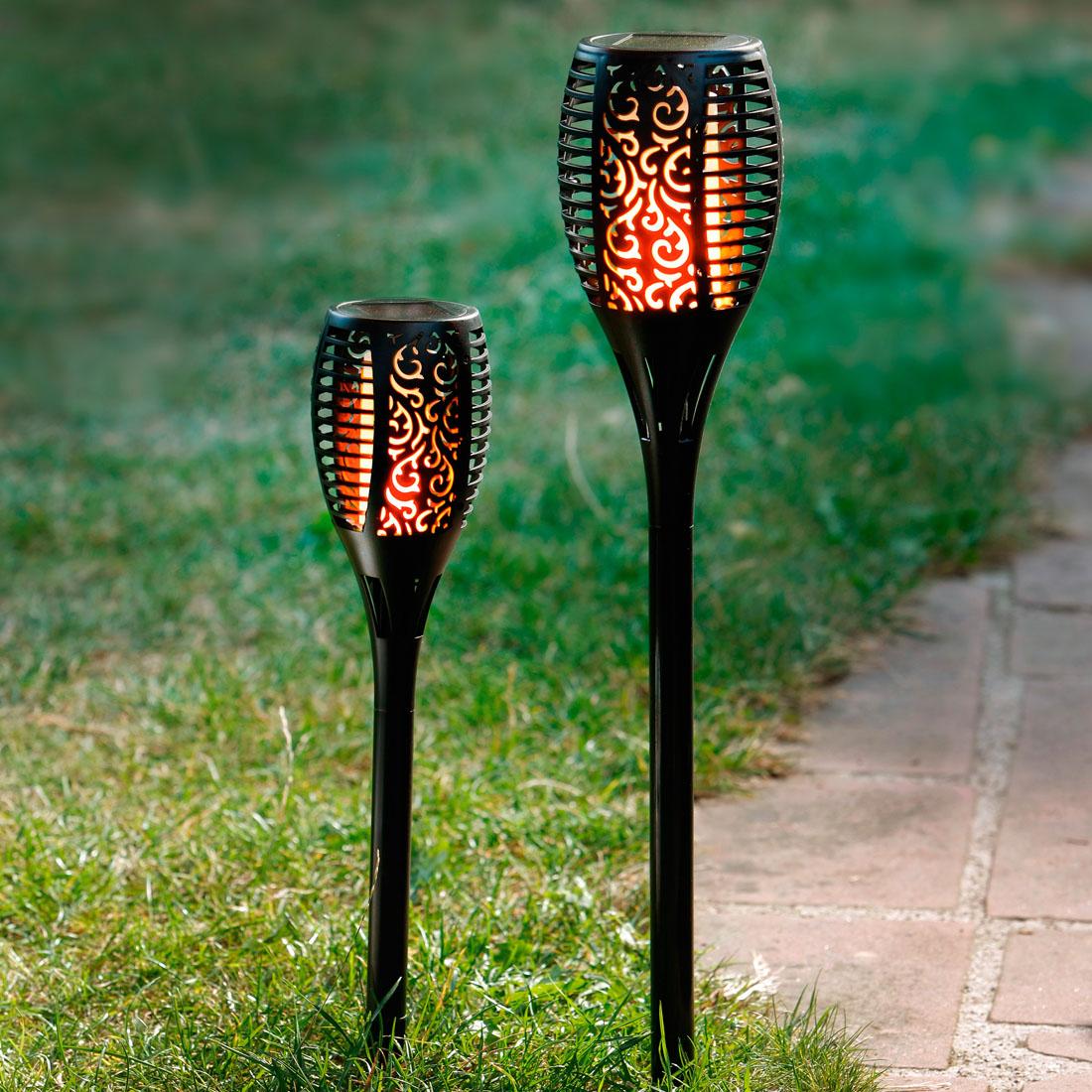 """Декоративный штекер """"Горящее пламя"""", с солнечной батареей, малый [06639]"""