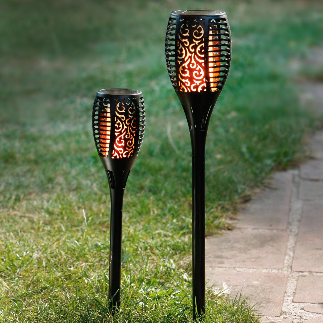 """Декоративный штекер """"Горящее пламя"""", с солнечным светильником, большой [06640],"""