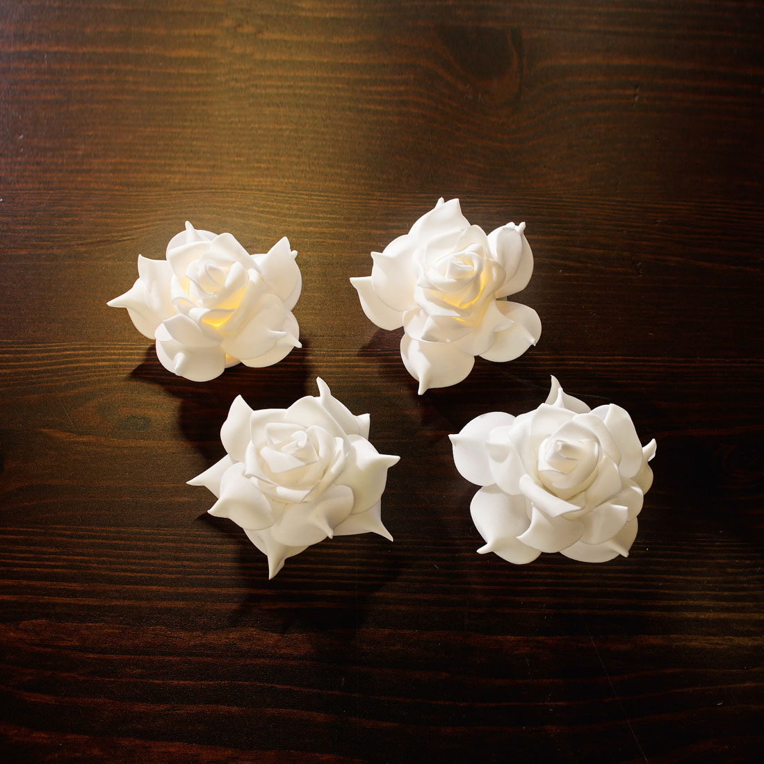 """Декоративные фигуры """"Розы"""", с подсветкой, 4 штуки [06645],"""