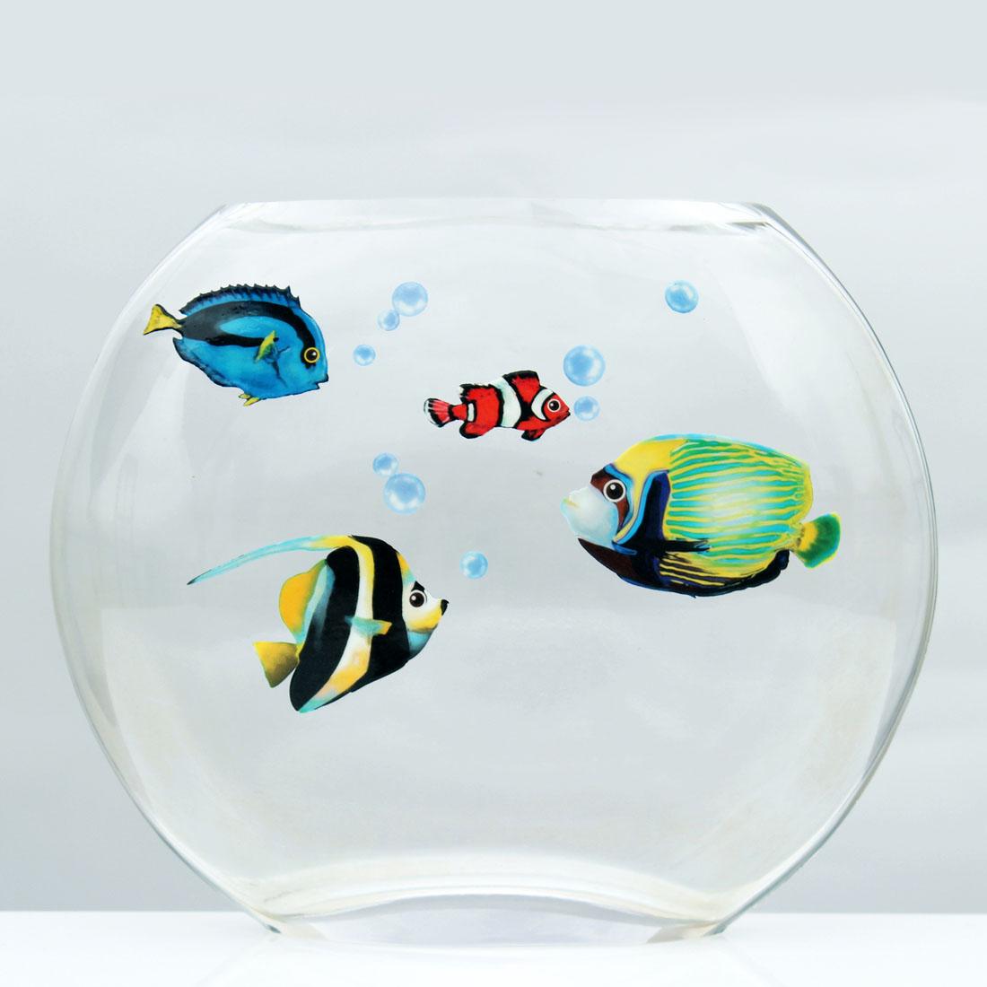 "Декоративные стикеры ""Рыбки"", 4 трафарета [06712],"