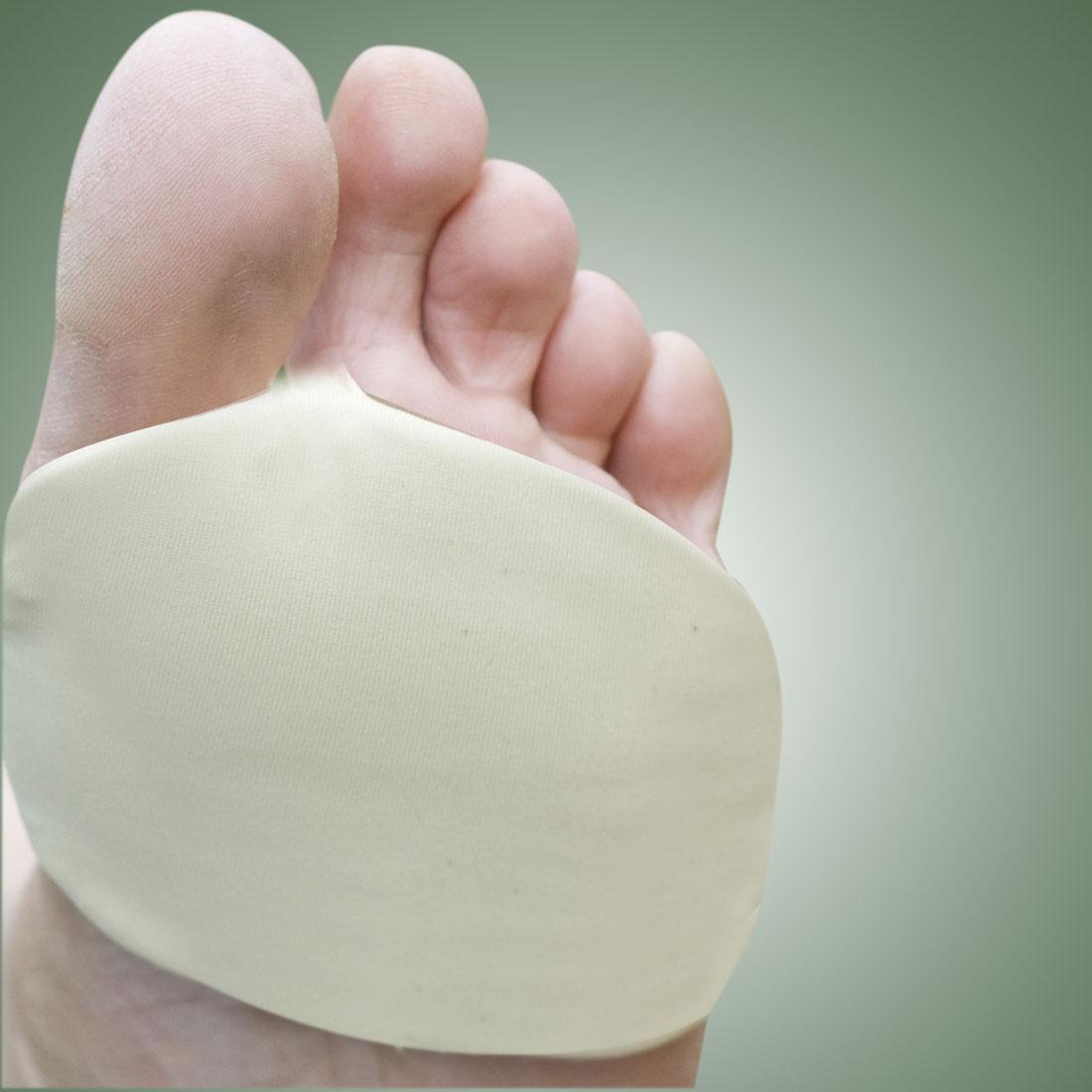 Бандаж эластичный с силиконовой вставкой для передней части стопы, 2 штуки [06737],