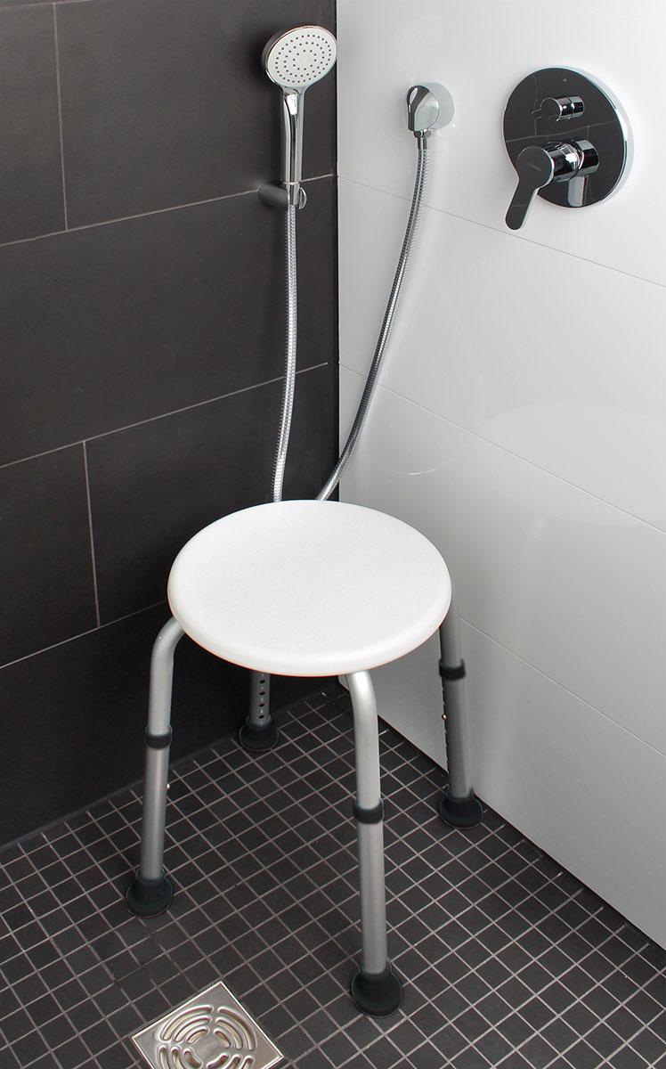 """Табурет для ванной """"Комфорт"""", с регулировкой высоты [05954],"""