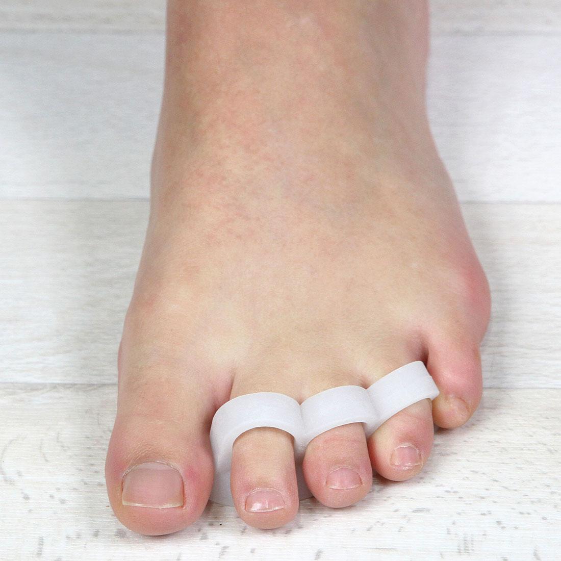 Разделители для пальцев ног с 3-мя делениями, 2 штуки [06754]