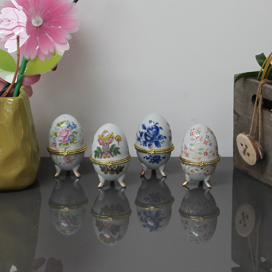 """Декоративные фигуры """"Фарфоровые яйца"""", 4 штуки [06761],"""