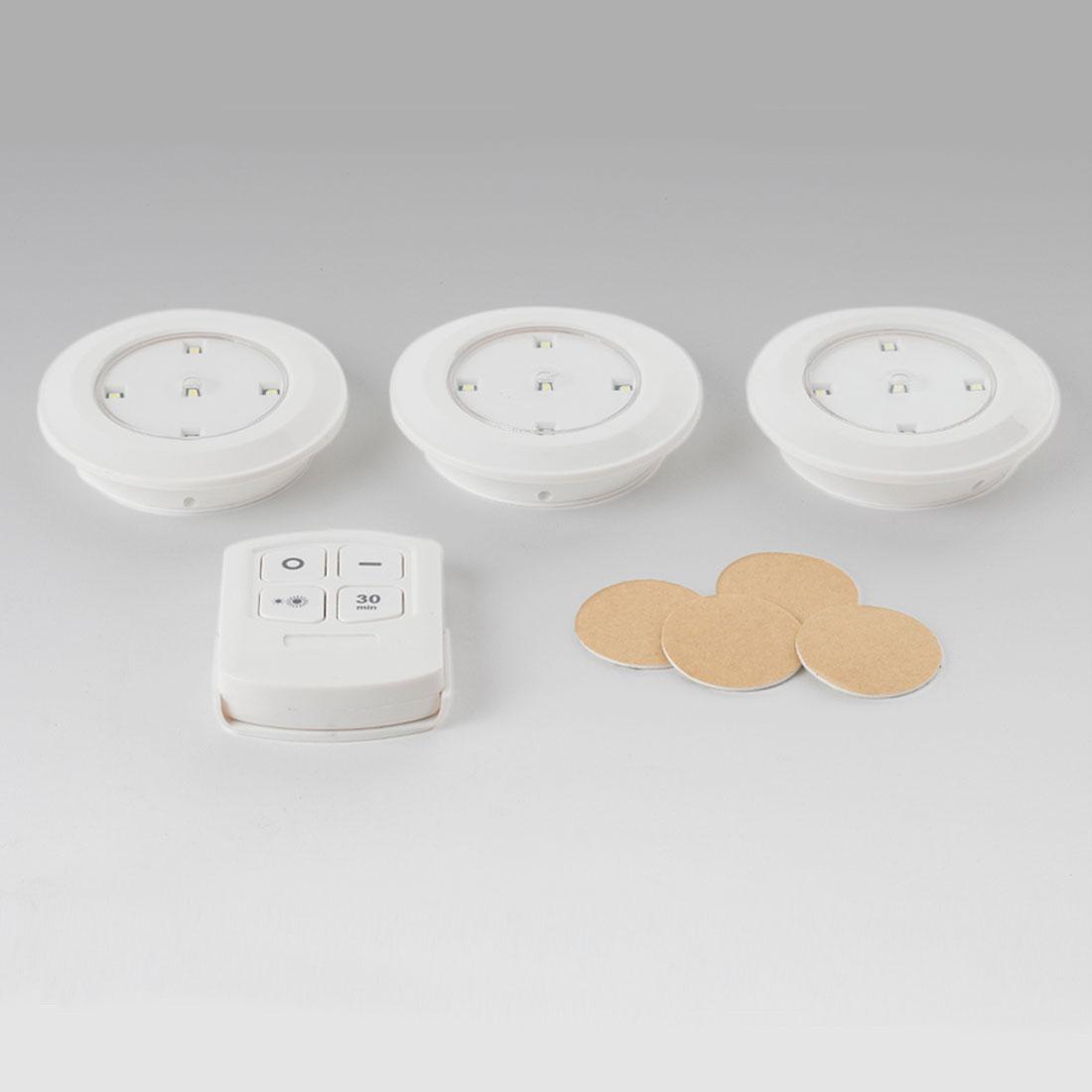 Светильники светодиодные с пультом дистанционного управления, 3 штуки [06793],