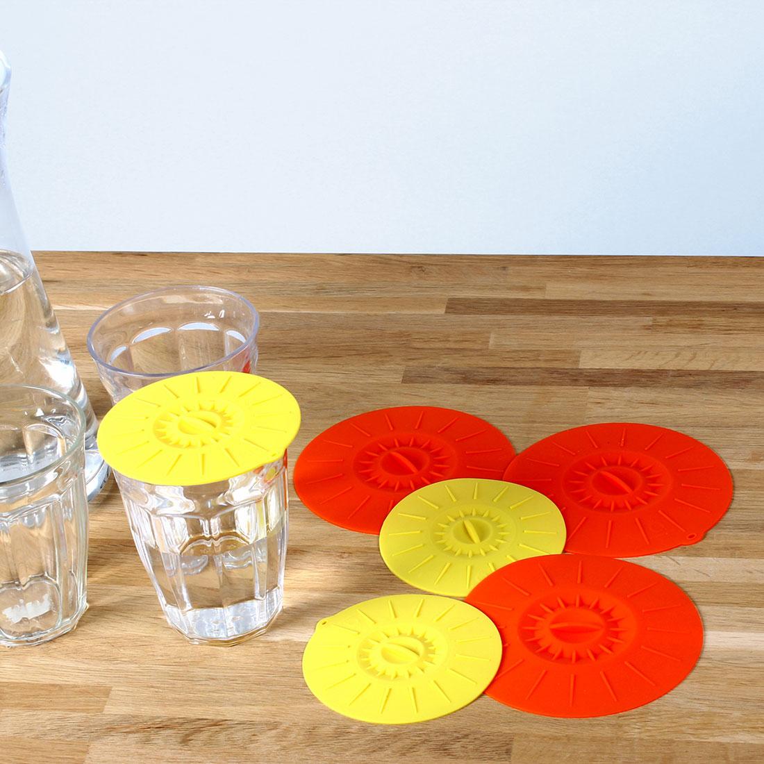 """Вакуумные крышки для чашек и стаканов """"Captain Clever"""", 6 штук [06798],"""
